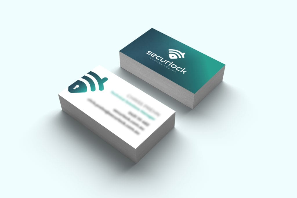 Front and back business card design.